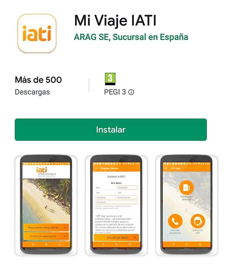 Aplicación móvil de Iati
