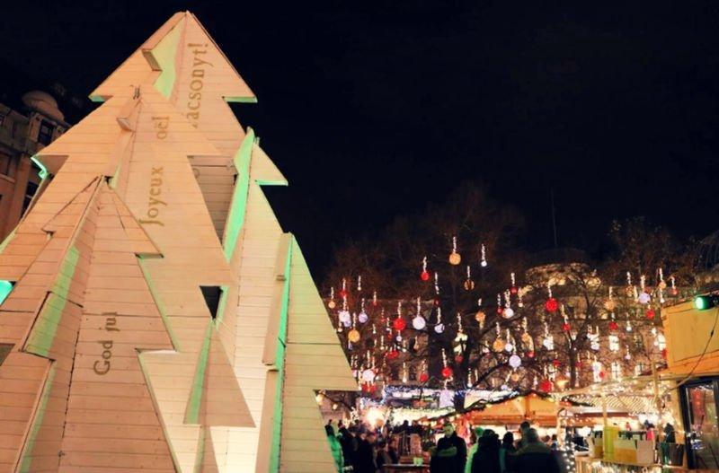 Decoración navideña en Hungría