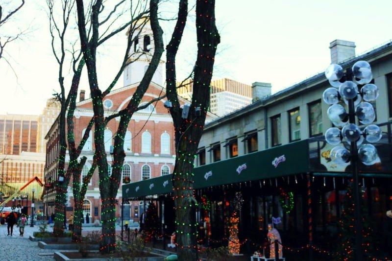 Luces navideñas en Boston