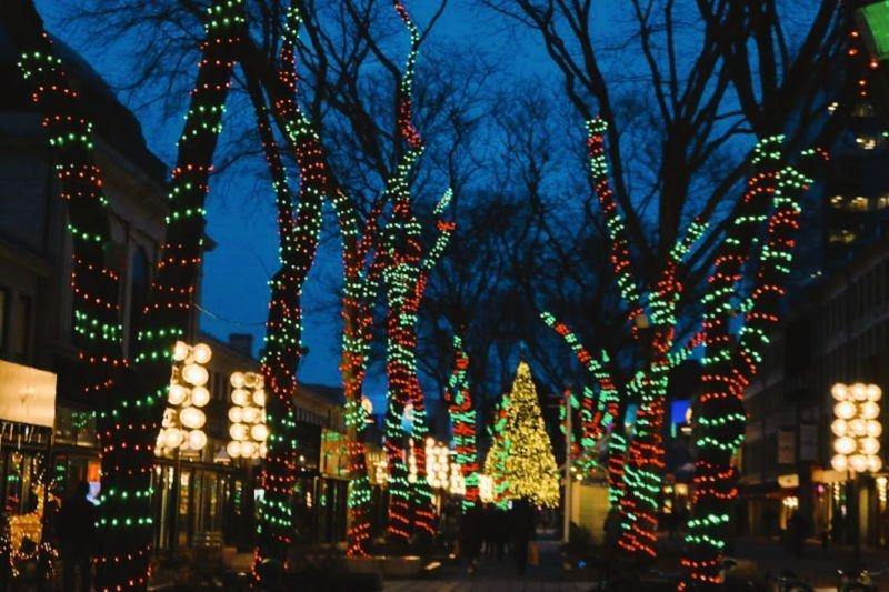 Luces por Navidad en Boston