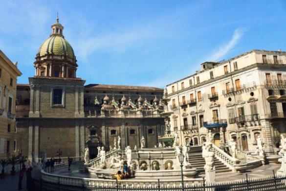 Qué ver en Palermo, fuente de la Plaza Pretoria
