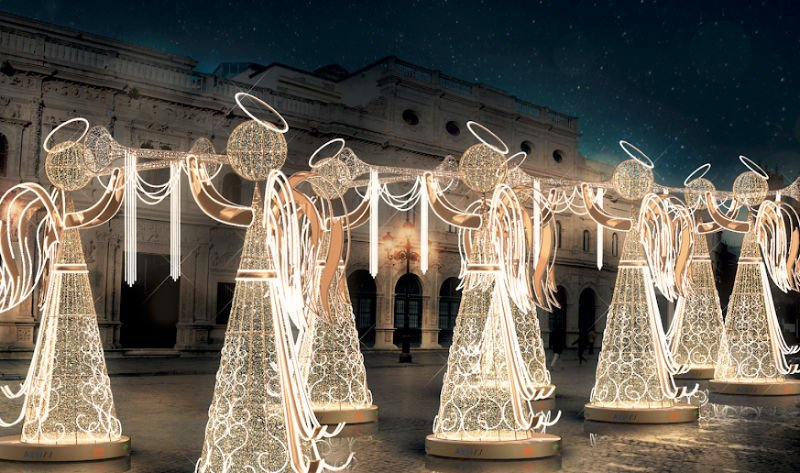 Ángeles Plaza de San Francisco - Navidad Sevilla 2019