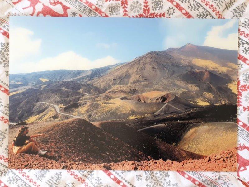 Cuadro de mi foto en el volcán Etna