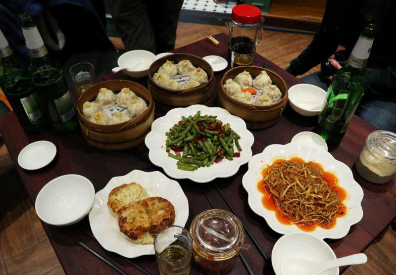 Comer dumplings en Shanghai