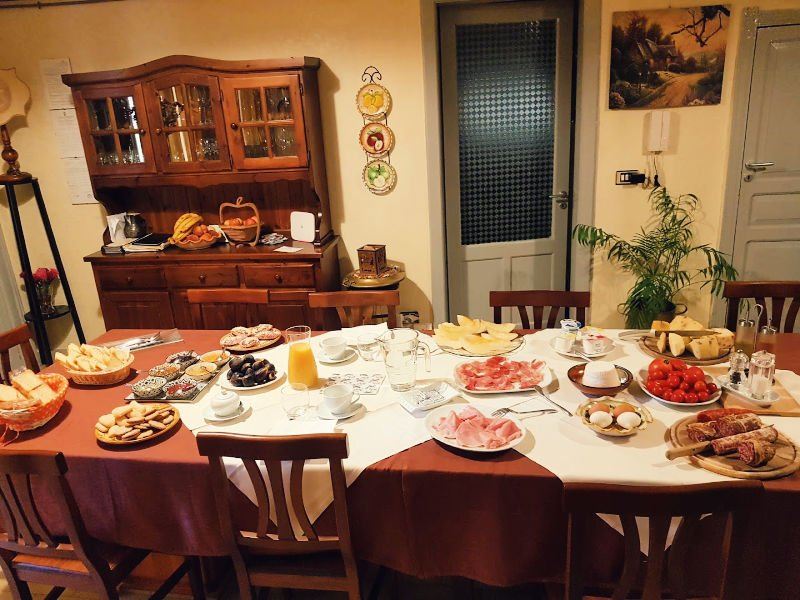 Parte de nuestro desayuno para 2 en el alojamiento de Piazza Armerina