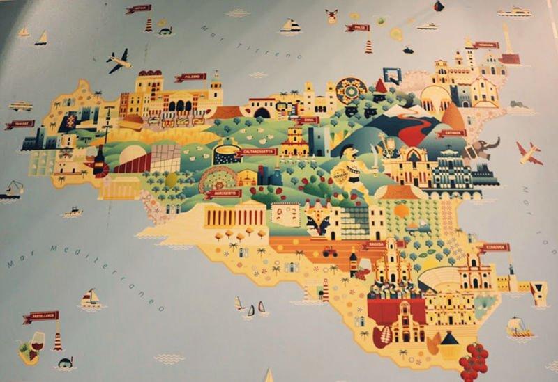 Mapa de mi road trip - viaje a Sicilia en una semana