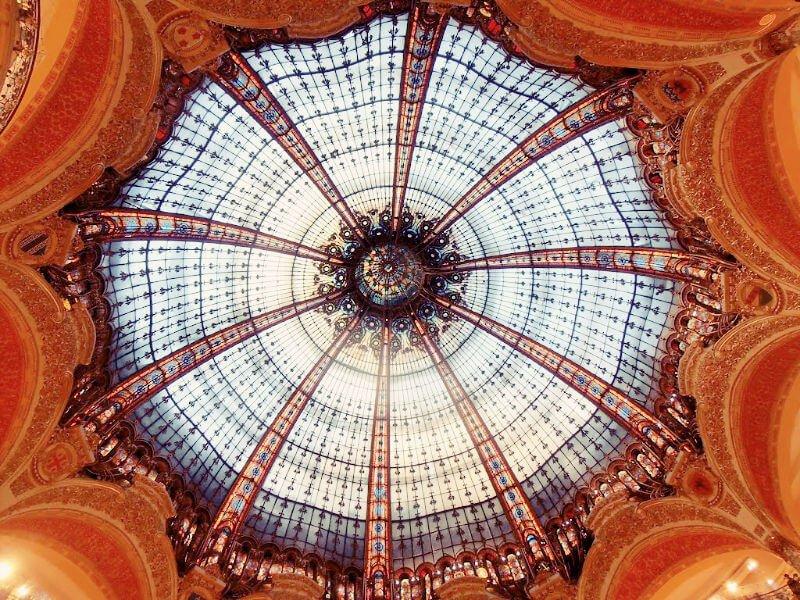 Cúpula de Lafayette, uno de los miradores de París
