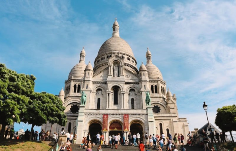 La Basílica de los Sagrados Corazones en Montmartre