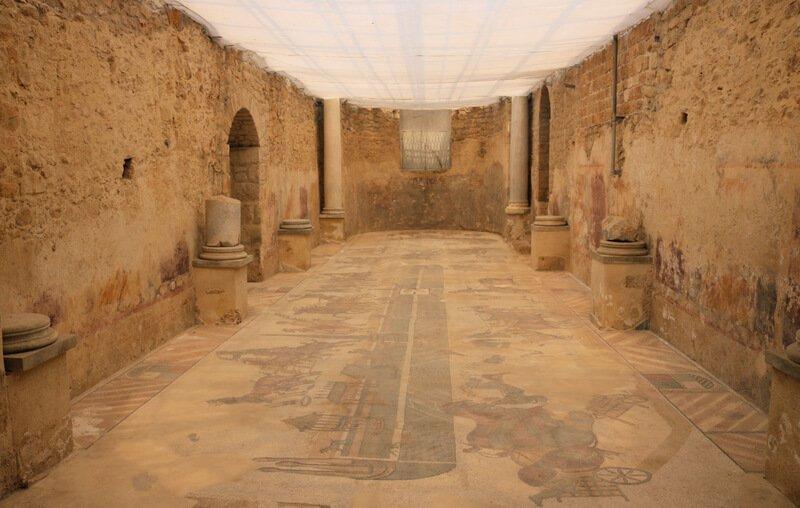 Las termas romanas de la Villa del Casale