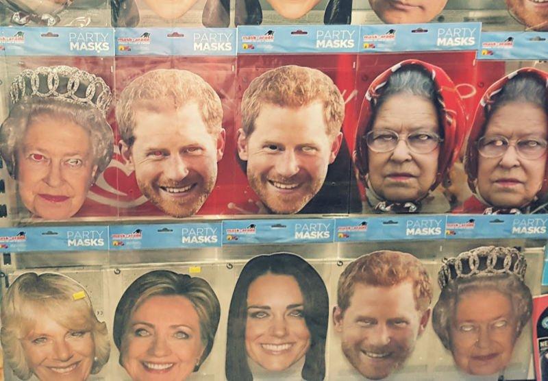 Máscaras de la familia real británica