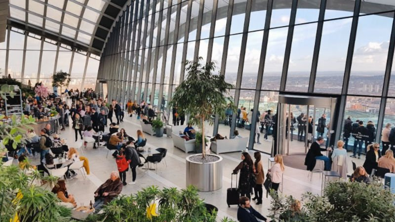 Mirador gratis en Londres: Sky Gardens