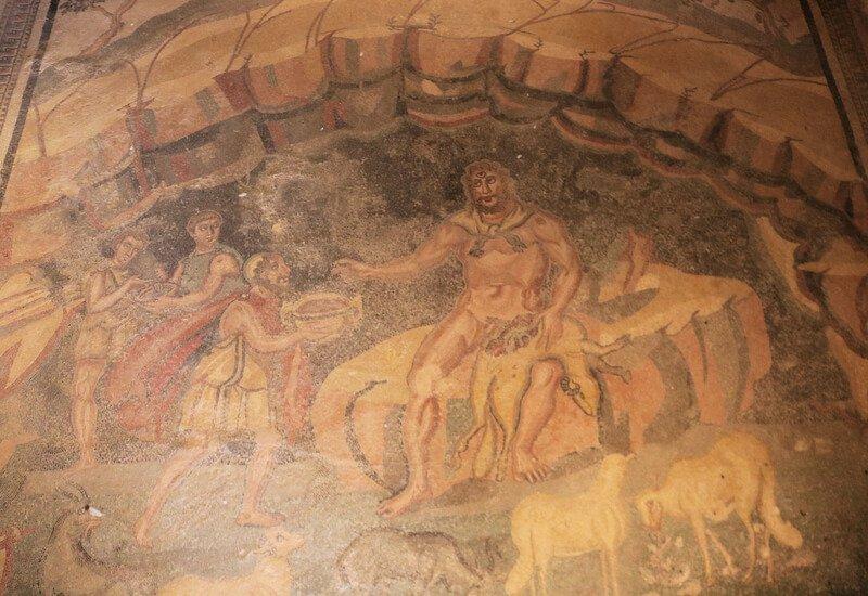 Ulises y Polifemo en la Villa Romana