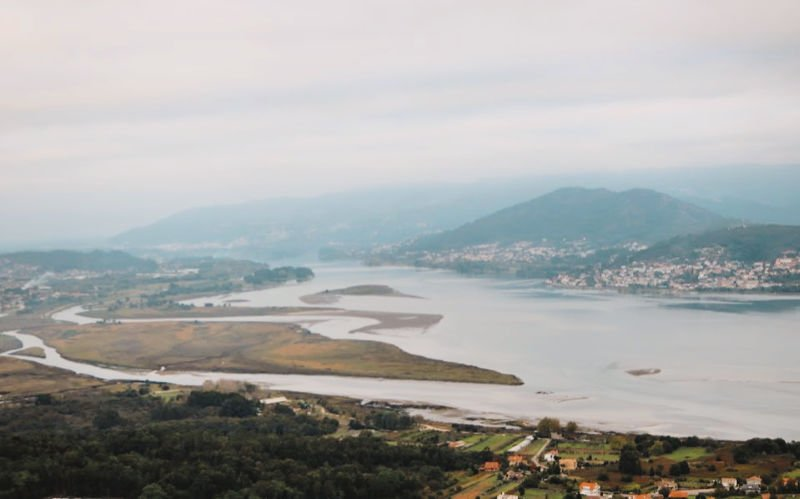 Desembocadura del Miño desde Santa Tecla