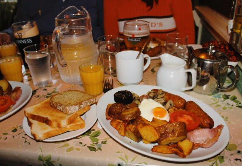 Dónde comer desayuno irlandés