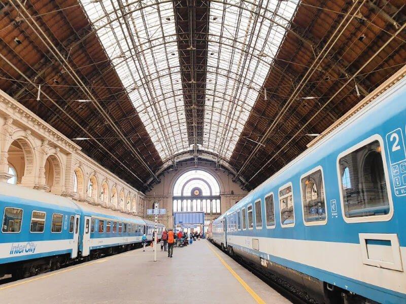 Estación Budapest Keleti, tren nocturno desde Praga