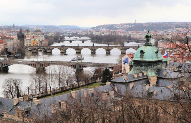 Vistas de los puentes desde el Parque Letna