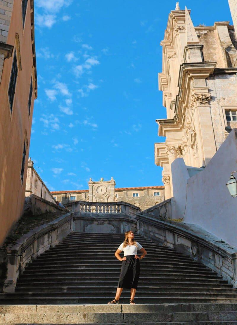 Las escaleras de la vergüenza de Cersei en Dubrovnik