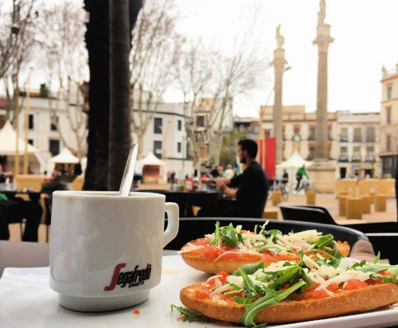 Tostada italiana en la Alameda