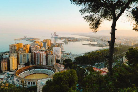 Vistas de Málaga desde el Castillo de Gibralfaro