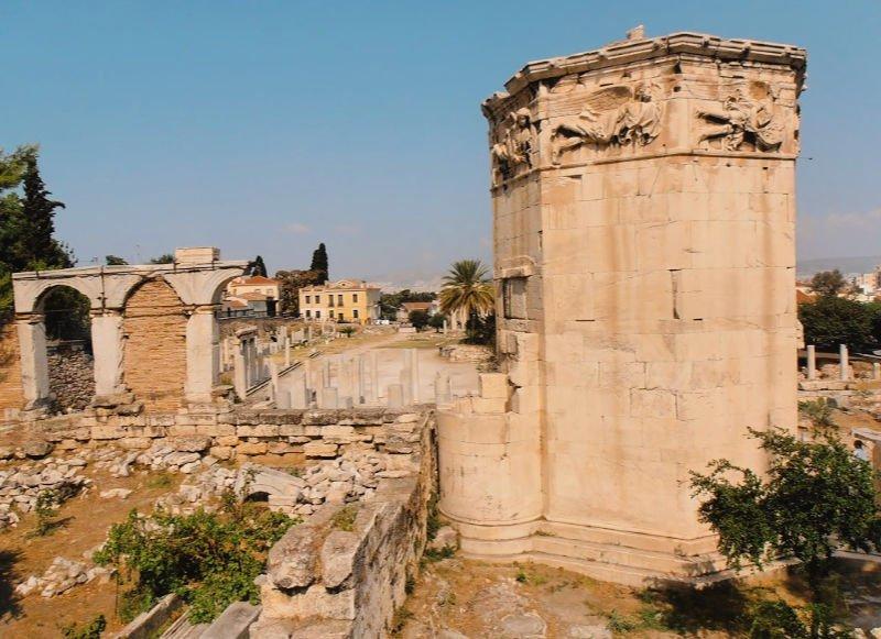 El Ágora Romana con la Torre de los Vientos