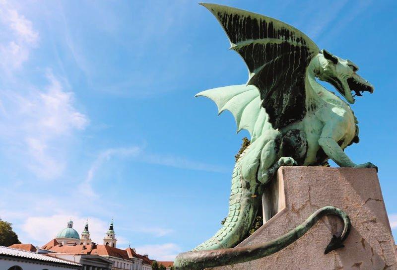 El Puente de los Dragones de Eslovenia