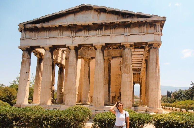 El Templo de Hefesto en el Ágora griega