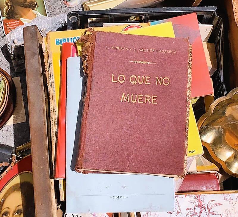 Libros antiguos en el mercadillo de Madrid