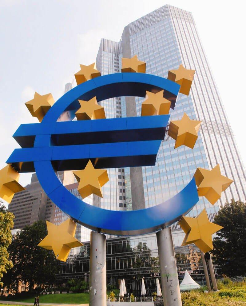 Signo del Euro del Banco Central Europeo