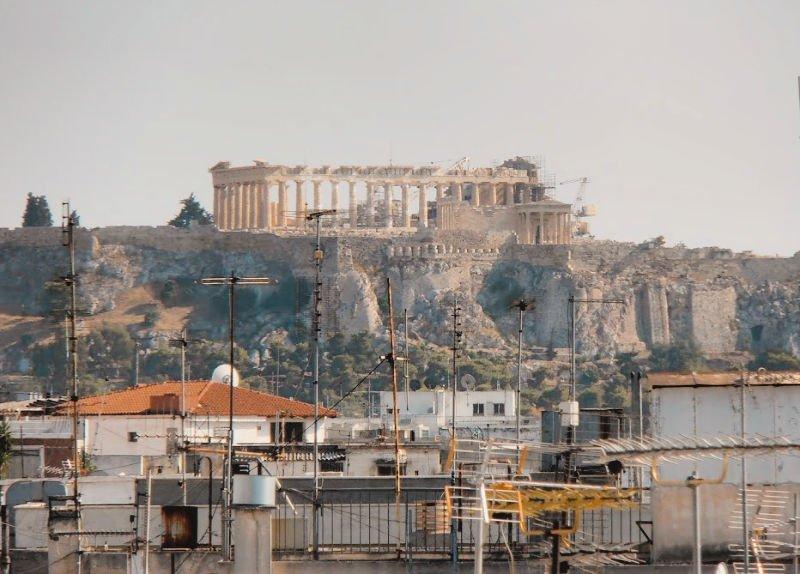 Vistas del Partenón desde nuestro hotel