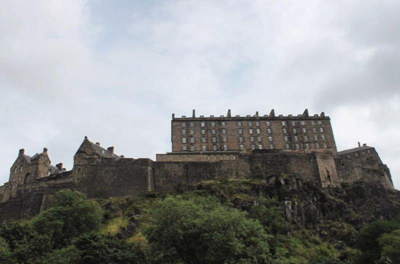 El acantilado del Castillo de Edimburgo