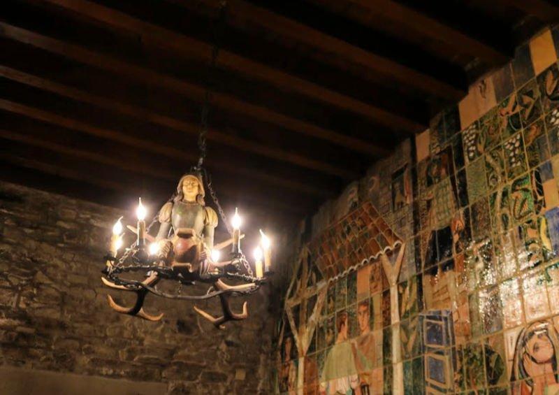 Detalles del interior del Hostal Reis Católicos