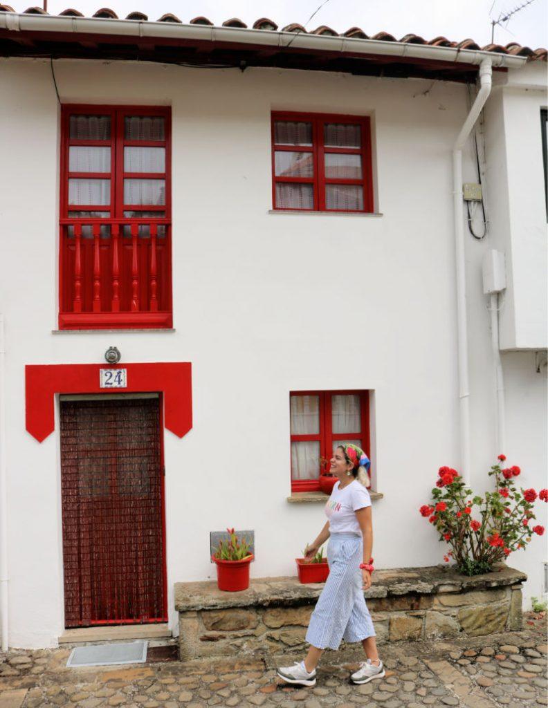 Las casas de colores en Tazones