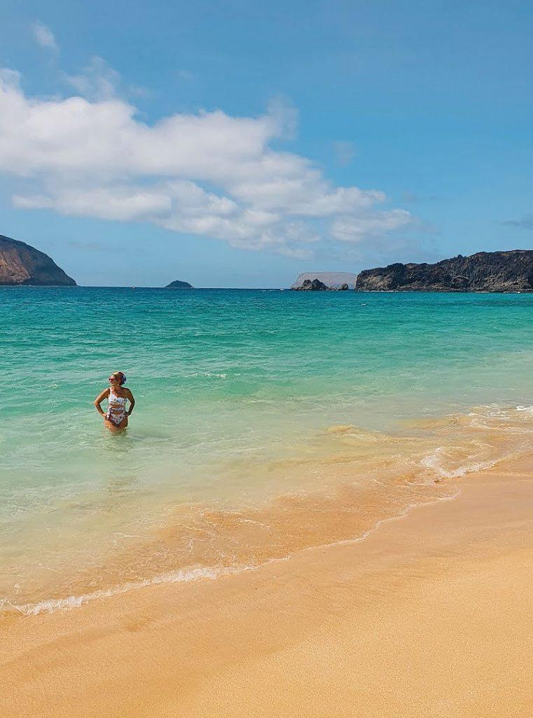 La playa de Las Conchas, la más bonita de la isla