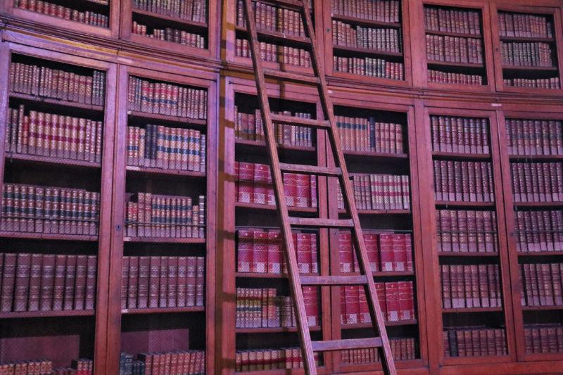 Biblioteca del interior del castillo