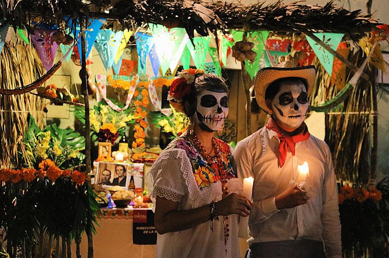 Altares mexicanos en Halloween
