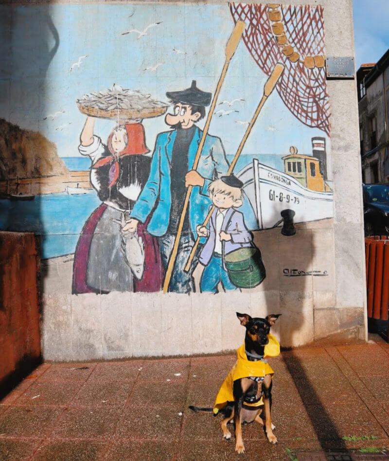 Ir de Gijón a Candás en FEVE con perro