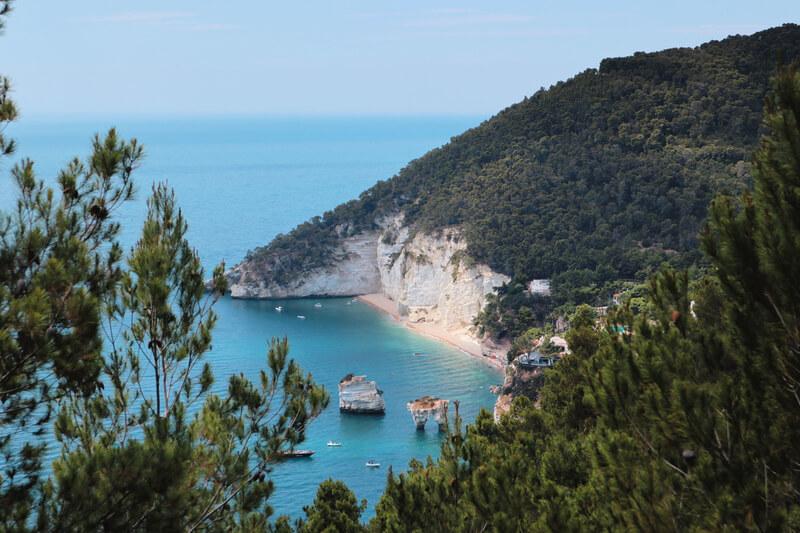 Sendero de la Playa dei Faragliani a Vignanotica