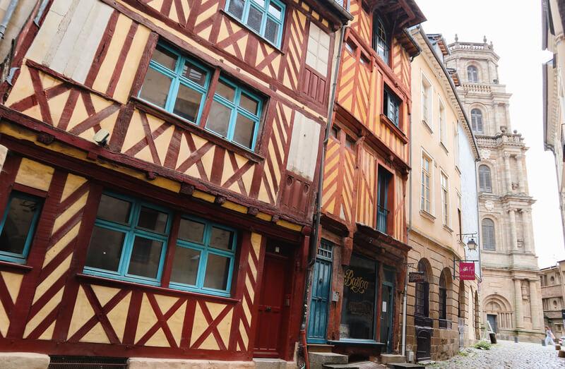 Rennes, la capital de las casas entramadas