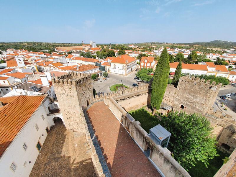 Vistas desde el castillo de Alter do Châo - Ruta por los pueblos más bonitos del Alentejo