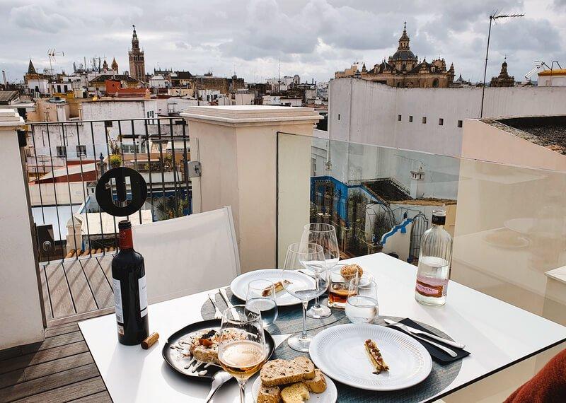 Restaurante con vistas a la Giralda